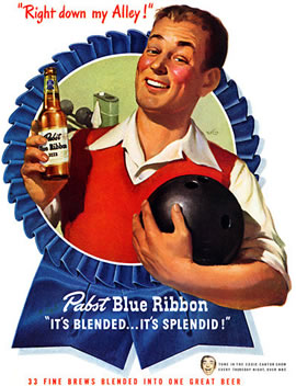 1947 PBR Ad of bowler